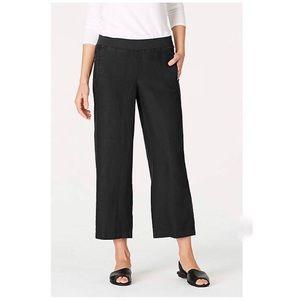 J Jill Black Linen Blend Capri Pants Size 8, used for sale